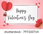 frame paper style love of...   Shutterstock .eps vector #797233714