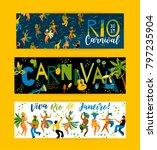 brazil carnival. vector... | Shutterstock .eps vector #797235904