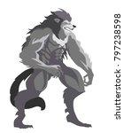 evil monster werewolf | Shutterstock .eps vector #797238598