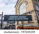london  january  2018  entrance ...   Shutterstock . vector #797249299