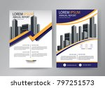 design cover book  blue and... | Shutterstock .eps vector #797251573
