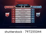 football scoreboard and global... | Shutterstock .eps vector #797255344