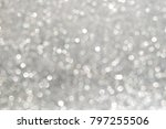 silver bokeh abstract backgounds | Shutterstock . vector #797255506