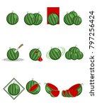 vector illustration of twelve... | Shutterstock .eps vector #797256424