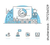 business banner and icons with... | Shutterstock .eps vector #797256529