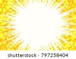 yellow light background cracked....   Shutterstock .eps vector #797258404