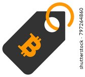 bitcoin tag raster icon. style... | Shutterstock . vector #797264860