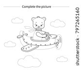 complete the picture.bear on... | Shutterstock .eps vector #797265160