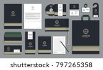corporate identity branding... | Shutterstock .eps vector #797265358