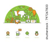 saint patrick's day banner and... | Shutterstock .eps vector #797267833