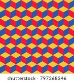 seamless pattern of colored... | Shutterstock .eps vector #797268346