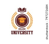 university logo design | Shutterstock .eps vector #797272684