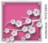 illustration of branch of... | Shutterstock . vector #797272894