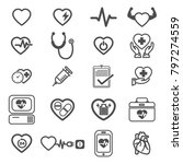 icons vector health medical | Shutterstock .eps vector #797274559