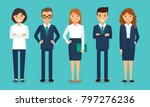 business team   a group of... | Shutterstock .eps vector #797276236