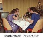 dutch 1950 s family enjoying... | Shutterstock . vector #797276719