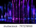water splash   neon color   Shutterstock . vector #797278900