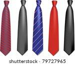 neck ties collection. vector... | Shutterstock .eps vector #79727965