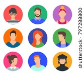 vector set of avatars  male and ... | Shutterstock .eps vector #797288800