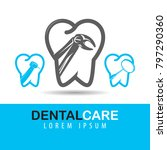 dental care and tooth vector... | Shutterstock .eps vector #797290360