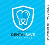 tooth with a heart sign on the... | Shutterstock .eps vector #797290378