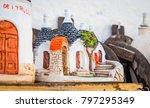 the trulli di alberobello is... | Shutterstock . vector #797295349