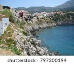 assos city kefalonia | Shutterstock . vector #797300194