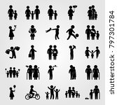 humans icon set vector. old... | Shutterstock .eps vector #797301784