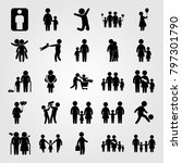 humans icon set vector.... | Shutterstock .eps vector #797301790