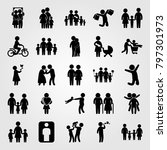 humans icon set vector. people... | Shutterstock .eps vector #797301973
