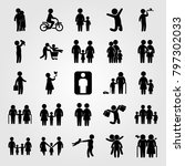 humans icon set vector. man... | Shutterstock .eps vector #797302033