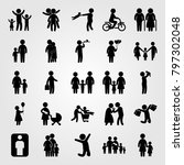 humans icon set vector. child ... | Shutterstock .eps vector #797302048