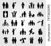 humans icon set vector.... | Shutterstock .eps vector #797302090