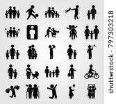 humans icon set vector. childen ... | Shutterstock .eps vector #797303218