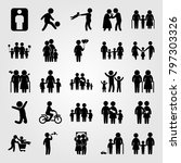 humans icon set vector. old... | Shutterstock .eps vector #797303326