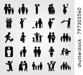 humans icon set vector. boy ... | Shutterstock .eps vector #797303560