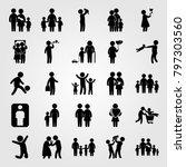 humans icon set vector. boy ... | Shutterstock .eps vector #797303560