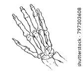 bones of the hand  vintage... | Shutterstock .eps vector #797303608