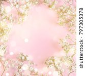 spring background with... | Shutterstock . vector #797305378