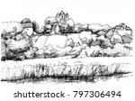 drawing of a landscape of a... | Shutterstock . vector #797306494