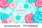 spring background with pink and ... | Shutterstock . vector #797308840
