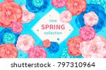 spring background with pink ... | Shutterstock . vector #797310964