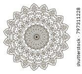 mandala. ethnic decorative... | Shutterstock .eps vector #797311228