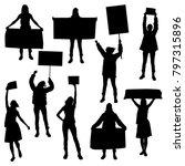 vector silhouettes of girls ... | Shutterstock .eps vector #797315896