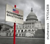 united states government... | Shutterstock . vector #797316208