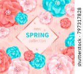 spring background with pink and ... | Shutterstock . vector #797317828