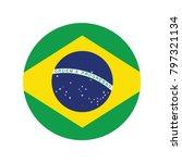 brazil national flag  brazil... | Shutterstock .eps vector #797321134