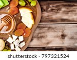 cheese plate   various types of ... | Shutterstock . vector #797321524