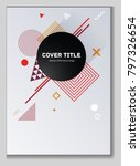 gnarly memphis notepad cover... | Shutterstock .eps vector #797326654