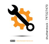 service icon. wrench key with... | Shutterstock .eps vector #797327470